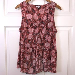 Lucky Brand Pink Floral Tank